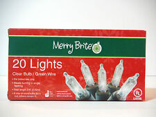 20 clear lights(smart bulb technology)steady burn or flashing 5ft indoor outdoor
