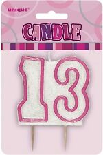 UNIQUE - PINK 13TH BIRTHDAY CANDLE