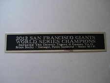 S.F. Giants 2012 World Series Nameplate For A Baseball Bat Display Case 1.25 X 6