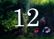 Traditional house number door sticker - Etched glass style - various sizes