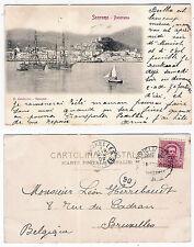 San Remo - viagg per il Belgio  nel 1902 - ambulante Ventim - Genova - 4029 E
