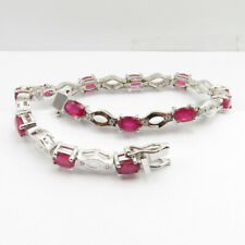 925 Solid Sterling Silver Real 8.3 ct RUBY Stone Exclusive Gorgeous Bracelet NEW
