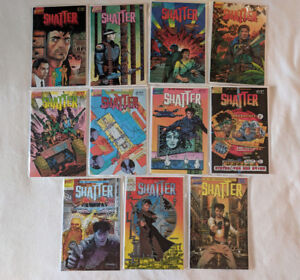 Shatter Comic Lot #1,3-7,9-11, 14, Special #1 ~ 1985 ~ First Computerized Comic