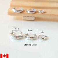 Pair 925 Sterling Silver Huggies Hoops ear stud earring jewelry luxury fashion