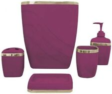 Red Bath Accessory Sets EBay - Red bathroom accessories sets
