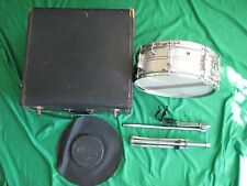 Vintage 1966 Ludwig Acrolite Snare Drum with Case and Stand