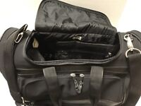 CHICO'S BLACK DUFFLE TRAVEL BAG CARRY ON WEEKEND WITH HANDHELD OR SHOULDER STRAP