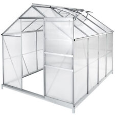 Greenhouse + foundation alu polycarbonate grow plants growhouse garden 7.6m³ new