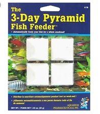API 3 DAY PYRAMID WEEKEND VACATION FOOD BLOCK FISH TANK FEEDER FOOD HOLIDAY