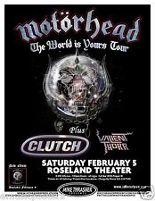 "MOTORHEAD / CLUTCH ""THE WORLD IS YOURS TOUR"" 2011 PORTLAND CONCERT POSTER"