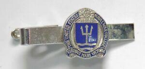 Vintage The United States Naval War College School Enamel Tie Clip / Clasp