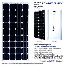 100 Watt Output Mono Crystalline Solar Panel 12V Efficient Alternative Energy RV