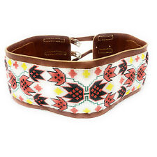 Beaded Leather Dance Belt Native American Wide Loom