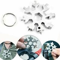 1pcs Snowflake Design Multitool Screwdriver Hex Wrench Function Multi Tool R1A3