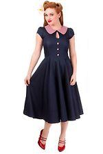 Collar Patternless Midi Regular Size Dresses for Women
