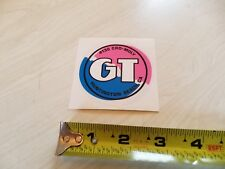 1987 GT Performer coin decal old school bmx pink on clear Pro Freestyle Tour