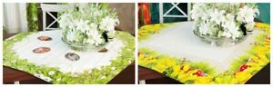 Novelty Easter Decorations Tablecloth Doily Tulips , Egg