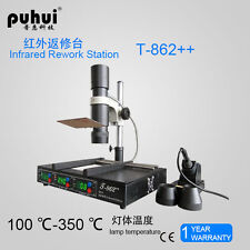 BGA Rework Station Puhui T-862++ Infrared Soldering Station T862++