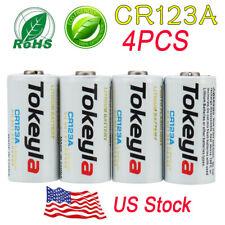 4x Tokeyla Battery Cr123 3V Lithium Batteries for Camera Flashlight New
