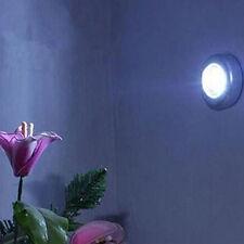 Mini Lámpara Táctil Luz de Pared Coche Cocina Gabinete Armario 3 LED Inalámbrico