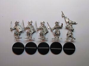 Warhammer LOTR- 5x Easterlings with Swords inc Command. Metal. OOP