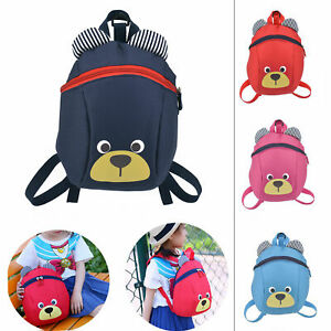 Kids Toddler Walking Safety Harness Backpack Security Strap Bag With Reins New