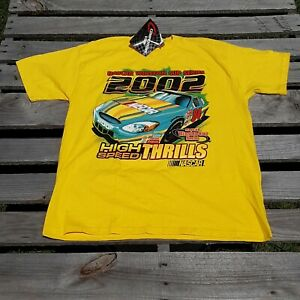 Vtg Chase Authentics Yellow 2002 Nascar Winston Cup Series Tee T Shirt Labonte