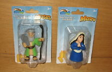 Set of 2 Bible Toys Moses & Mary PVC Religious Figures New in Pack