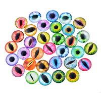 50PCs Eyes Mixed Glass Embellishments Cabochons Findings Phone Decor DIY 12mm