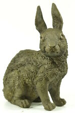 China Chinese pure bronze carved Fengshui 12 Zodiac Year Rabbit hare statue deco