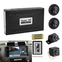 4 Camera 360° Bird View Panoramic System Rear View W/ Shock Sensor Night Vision