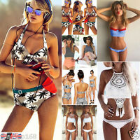 Sexy Women Swimwear Bikini Set Bandage Push-Up Padded Swimsuit Bathing Beachwear