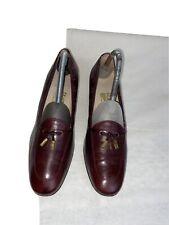Salvatore Ferragamo Ladies Burgundy Leather Court Tassel Shoes Uk 6.5 Ref Ba5