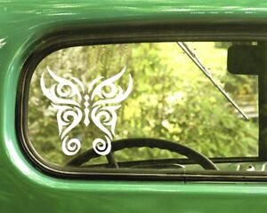 2 TRIBAL BUTTERFLY DECAL Stickers For Car Window Truck Bumper Laptop