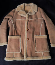 Vintage SAWYER OF NAPA Shearling Western Style Coat -- Sz 42 -- Exc Condition!