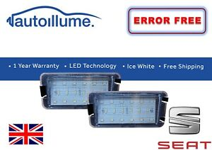 SEAT Leon FR Ibiza 6L Altea Toledo Canbus Licence Number Plate Lights Units