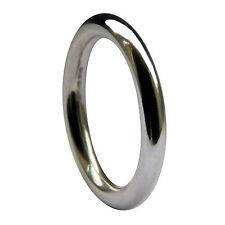 SALE 3mm 950 Palladium Halo Round Wedding Ring 5.1g UK Hallmarked @ Size M USA 6