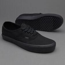 5f5abeae0e Vans Authentic Lite Canvas Black Black Men s Classic Skate Shoes Size 10.5