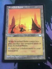 MTG Scorched Ruins - Very Heavily Played Back