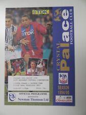 More details for crystal palace v swindon town | 1994/1995 | reserves | 16 aug 1994 | uk freepost