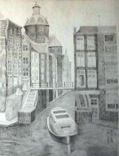 Originalzeichnungen über Landschaften & Städte (ab 1950) mit Bleistift
