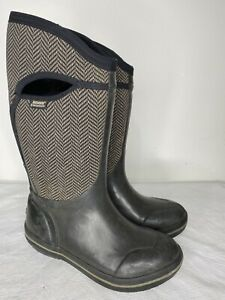 Bogs Plimsoll Herringbone Boots Womens Size 9 Neo Tech -40 Rubber Rain Muck Boot