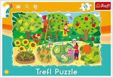 Trefl 15 Pezzi BABY KIDS UNISEX NEONATO AGRICOLTURA GIARDINO Frame FLOOR PUZZLE