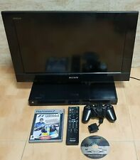 TV LED SONY BRAVIA KDL-22PX300 CON CONSOLA PLAYSTATION 2 INTEGRADA MUY RARA LEER