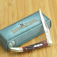 Rough Rider Red Jigged Bone Baby Toothpick Folding Pocket Knife RR272