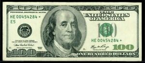 $100 One Hundred Dollar Federal Reserve STAR NOTE / Replacement Bill 2006