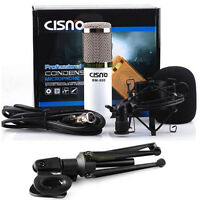 Condenser Sound Podcast Studio Microphone w Tripod Stand For PC Laptop Skype MSN