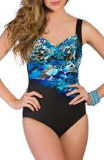 Miraclesuit® 'Blue Attitude Sanibel' One-Piece Swimsuit (size 12)