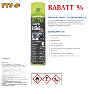 Neu Original Petec 71750 Industrie Schnell Teilereiniger Spray 500ml Werkstatt