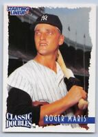 1997  ROGER MARIS - Starting Lineup Card - Classic Doubles - NEW YORK YANKEES